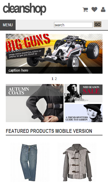 mobile ecommerce site